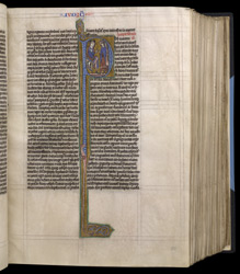 Historiated Initial With A Scene Of Judgement, In 'The Bible Of Robert De Bello'